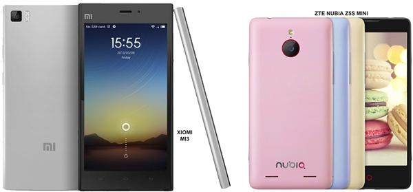 Pilih Mana Xiaomi Mi3 vs ZTE Nubia Z5S Mini