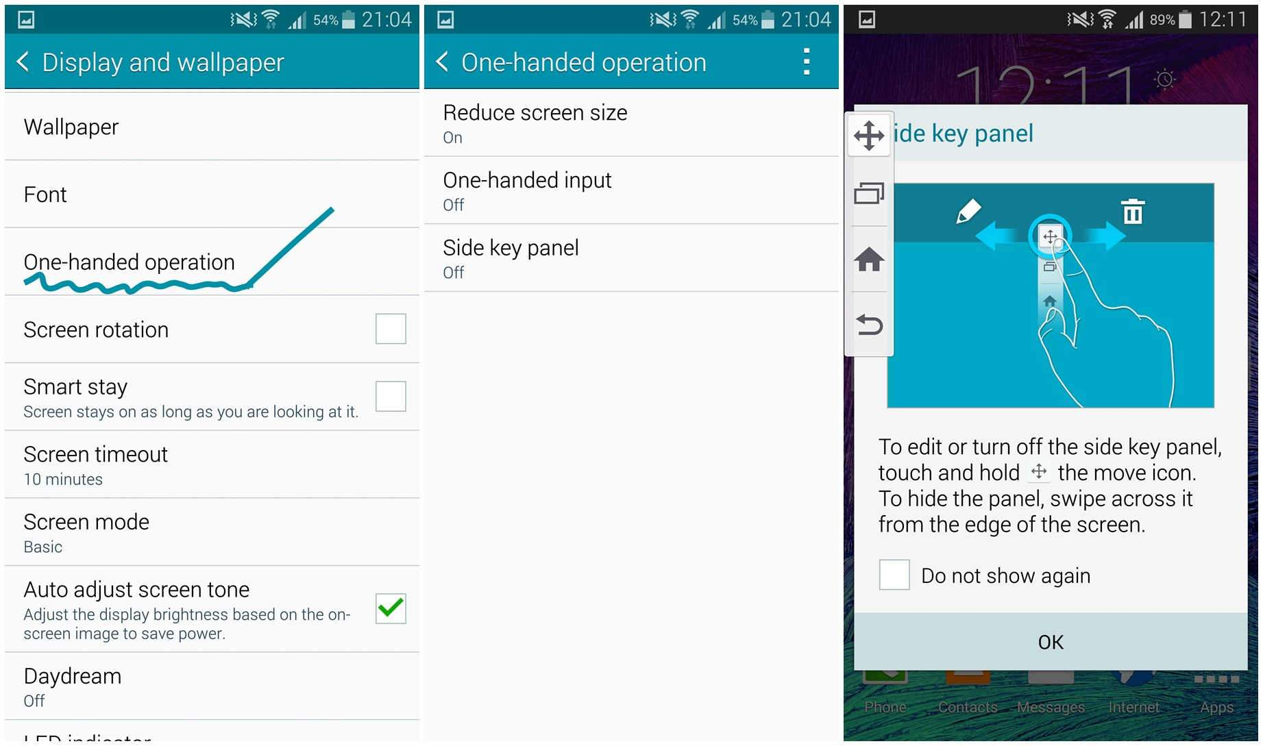 one handed mode note 4