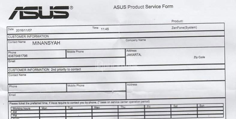 Service Center Asus Di Indonesia Dan Cara Klaim Garansi