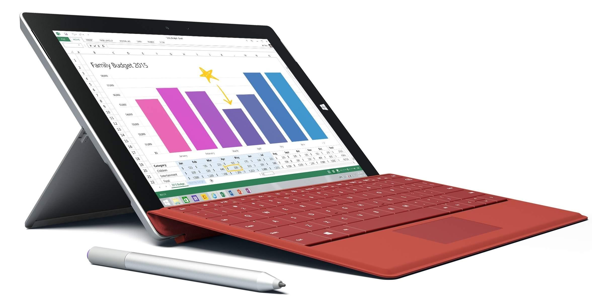 Tablet Surface 3 Dirilis Dengan Chipset Intel Cherry Trail