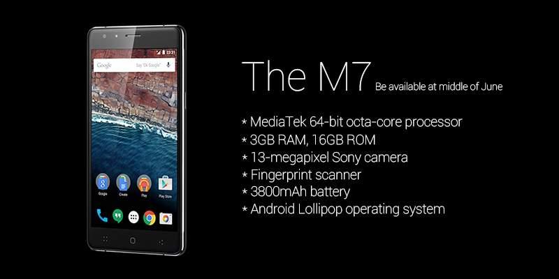 Zeaplus M7, Handphone Android Octa core dengan Fingerprint Scanner