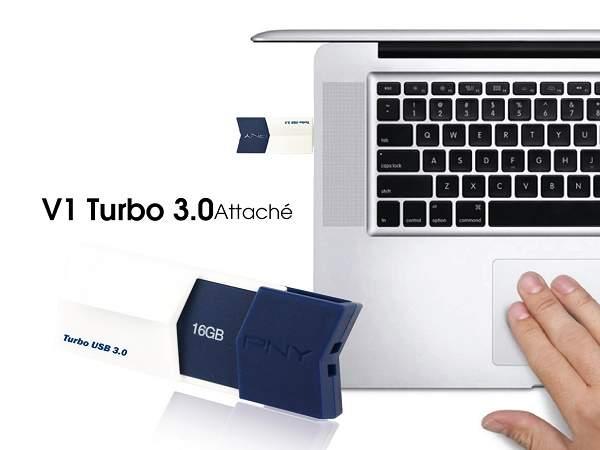 PNY V1 Turbo 3.0 Attche, Memori Flash Hingga 128GB