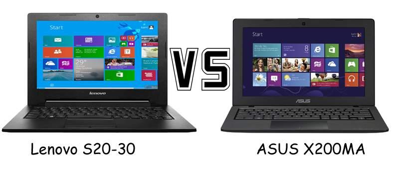 Duel Spesifikasi Notebook 11,6 inci, Asus X200MA dan Lenovo S20-30