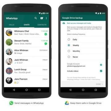 WhatsApp Memiliki Fitur Backup Data yang Bisa Disimpan di Google Drive