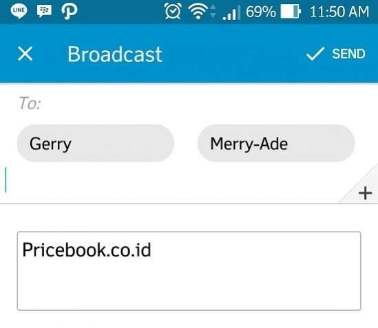 Broadcast Message BBM