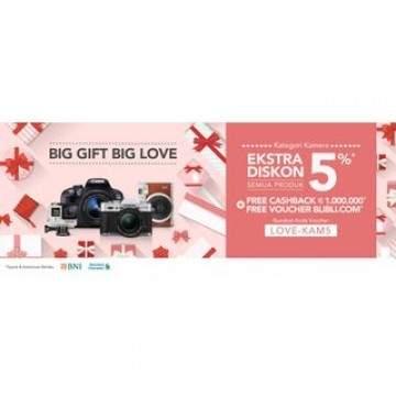 Sambut Valentine dengan Big Gift Big Love. Blibli Gratiskan Pengiriman
