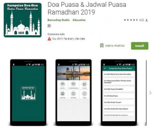 2.Aplikasi Doa Puasa dan Jadwal Puasa Ramadhan 2019