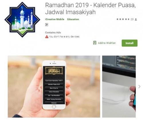Aplikasi Ramadhan 2019 - Kalender Puasa Jadwal Imasakiyah
