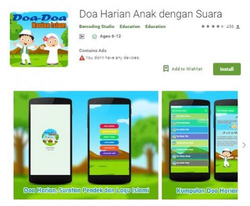 Aplikasi Doa Harian Anak Dengan Suara