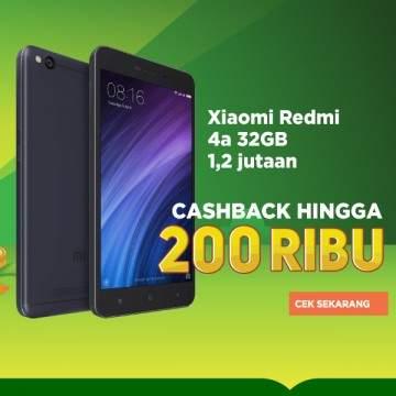Harga Xiaomi Redmi 4a di Tokopedia Ada Cashback Rp200 Ribu, Menang Banyak!