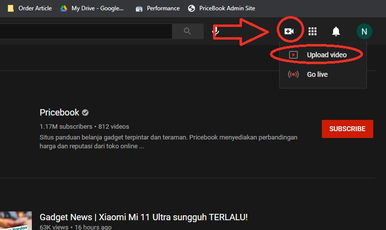 Cara Upload Video ke Youtube dari PC