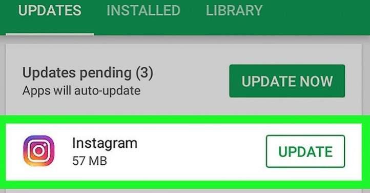 Hasil gambar untuk lakukan update aplikasi instagram