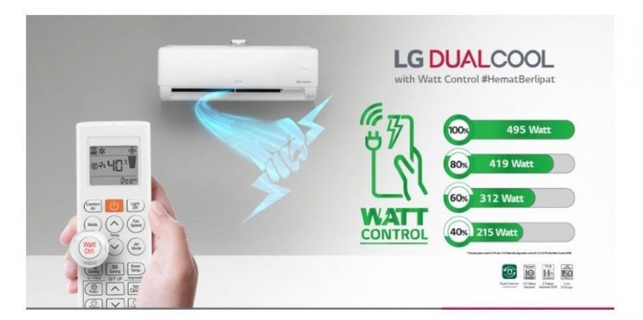 LG DUAL COOL with WATT CONTROL