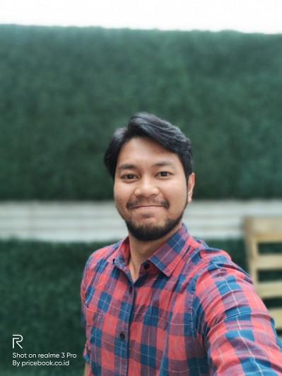 hasil foto selfie realme 3 pro