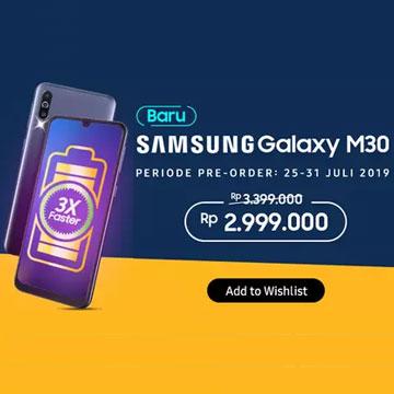Pre Order Samsung Galaxy M30 dapat Diskon Rp400 Ribu