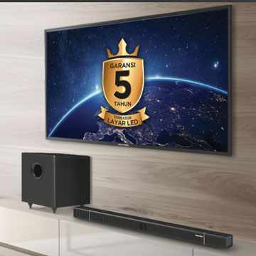 Polytron Cinemax Soundbar, TV LED Plus Soundbar dan Subwoofer