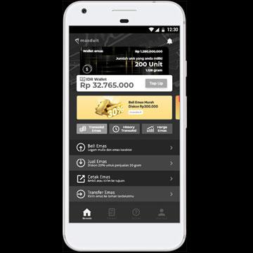 Aplikasi Masduit, Jual Beli Emas Langsung dari Hp