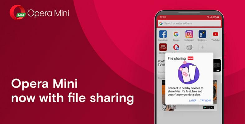 file tanpa internet pakai opera mini