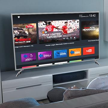 Dua Smart TV Polytron Terbaru 2019, Free Akes Liga Inggris