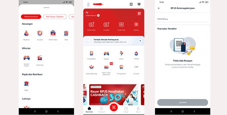 Bayar BPJAMSOSTEK di Aplikasi LinkAja