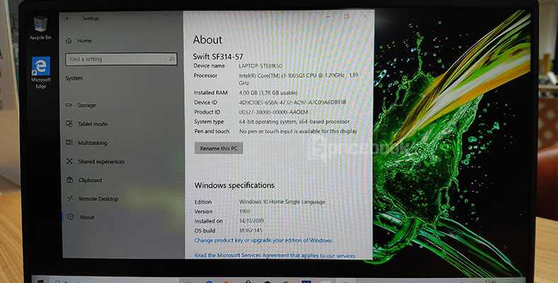 Hands On Acer Swift 3 (SF314-57)