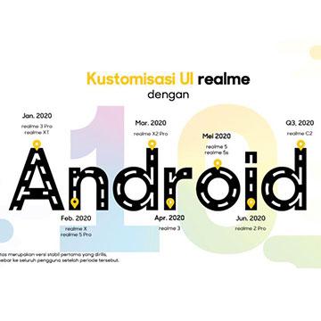 Daftar hp realme yang Dapat Android 10 dan ColorOS 7