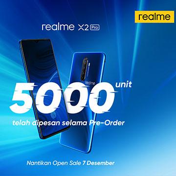 realme X2 Pro di Order 5.000 Unit, realme 5s Terjual 2.000 Unit