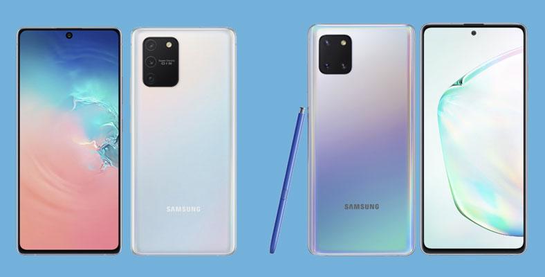 Samsung Galaxy S10 Lite dan Note10 Lite