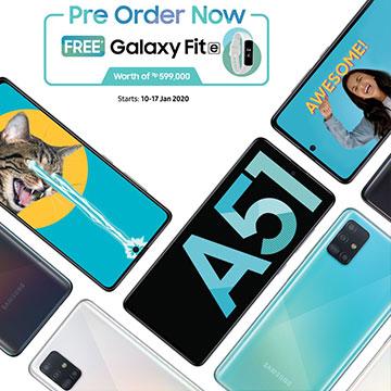 Pre Order Samsung Galaxy A51 Dapat Galaxy Fit e Gratis