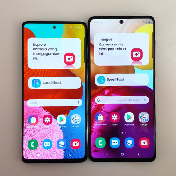 Perbedaan dan Persamaan Samsung Galaxy A51 dan A71