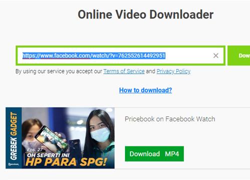 Cara Download Video di Facebook Tanpa Aplikasi