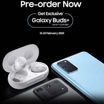 Pre Order Samsung Galaxy S20 dapat Galaxy Buds+ (Rp2,3 Juta)