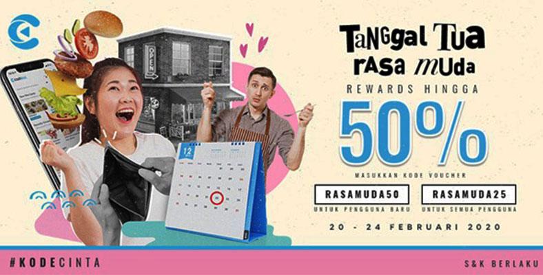 Cashbac Hadirkan Promo Rewards Hingga 50%