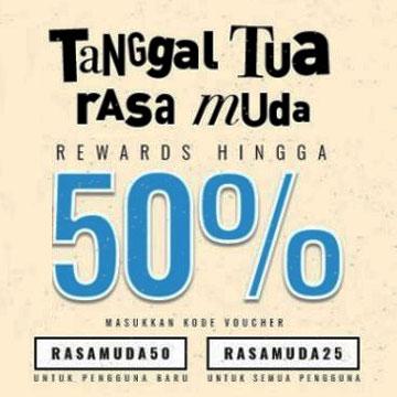 Tanggal Tua, Cashbac Hadirkan Promo Rewards Hingga 50%