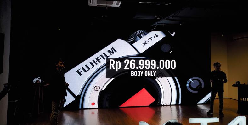 harga fujifilm X-T4 body only
