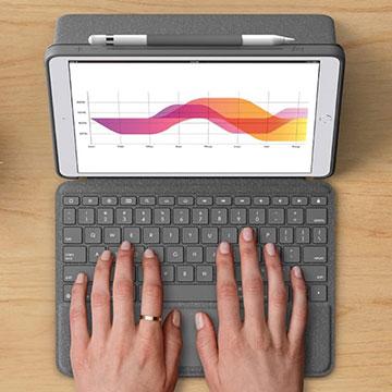 Logitech Combo Touch, Keyboard dengan TrackPad untuk iPad Pro 2020