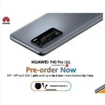 Resmi, Harga Huawei P40 Pro di Indonesia Lebih Murah
