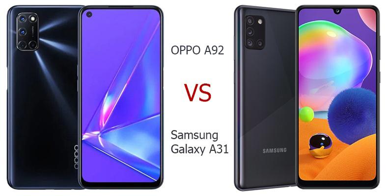 OPPO A92 vs Samsung Galaxy A31, Hp 4 Jutaan Berkamera 48MP