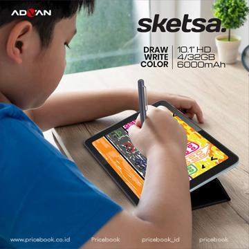 ADVAN Tabs Sketsa Premium 10 Inci, Ada Stylus Pen