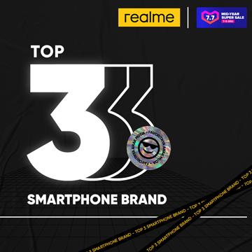 realme Jadi Top 3 Smartphone Brand di Mid-Year Super Sale Lazada
