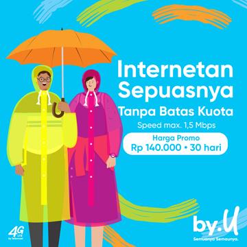 Pertama di Indonesia, Enaknya Pakai Paket by.U 1.5 Mbps!