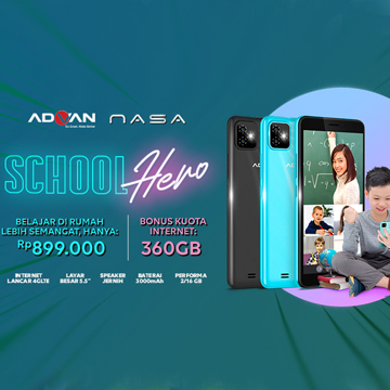 Advan Nasa Plus, Beli Hp 899 Ribu Gratis Internet 360 GB Sebulan!