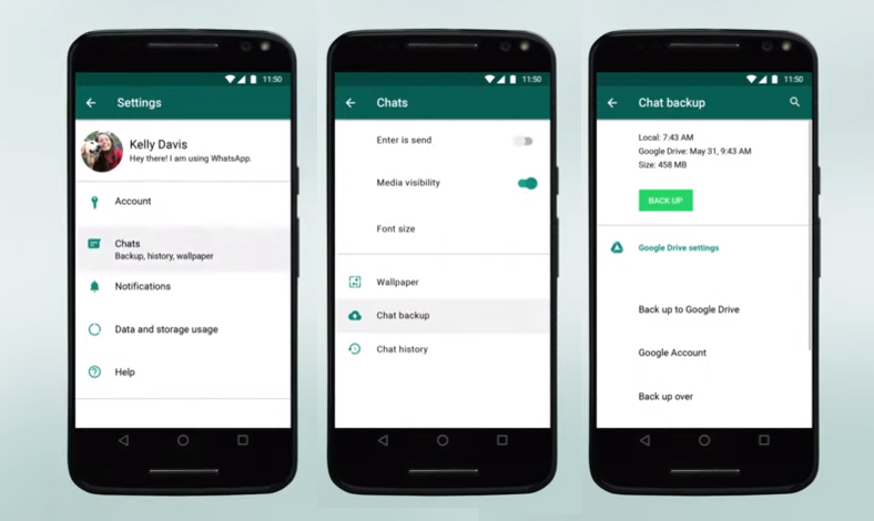 cara transfer data dan chat whatsapp ke