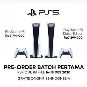 PlayStation 5 (PS5) Sudah Bisa Dipesan, Harga Mulai 7 Jutaan