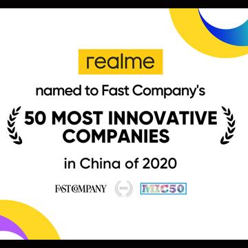 realme Masuk Daftar 50 Brand Paling Inovatif di Tahun 2020