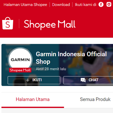 Garmin Official Shop Hadir di Shopee, Diskon Hingga 36%