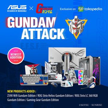 9 Komponen PC ASUS Edisi GUNDAM, Sudah Bisa Dibeli