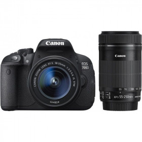 Canon EOS 700D Kit EF 18-55mm + 55-250mm