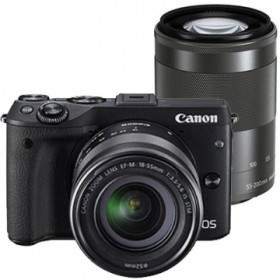 Mirrorless Canon EOS M3 Kit 15-45mm + 55-200mm