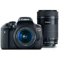 Canon EOS Rebel T6i Kit 18-55mm + 55-250mm